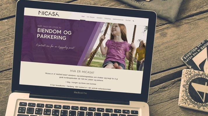 Nettsted til Micasa i WordPress